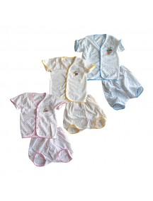 KA0002W - Pakaian Tidur Cartoon Cute School Bear Baju & Celana Pendek