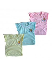 KA0007W - Kaos Oblong Bayi Polos Cartoon Lengan Pendek
