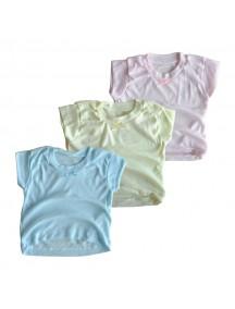 KA0009W - Kaos Oblong Polos Anak Bayi Hiasan Pita