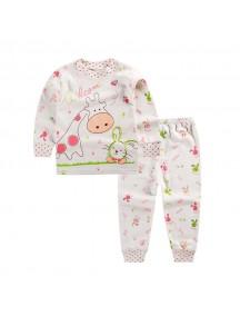 KA0040 - Baju Balita Piyama Giraffe Pajama Set (1-2 Thn)