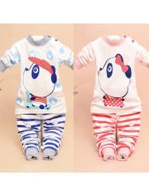 KA0042W - Baju Balita Piyama Panda Pajama Set (1-2 Thn)