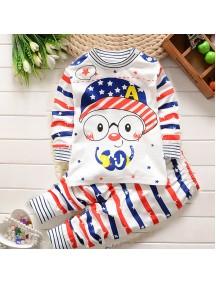 KA0045 - Baju Balita Piyama Captain America Pajama Set (1-2 Thn)