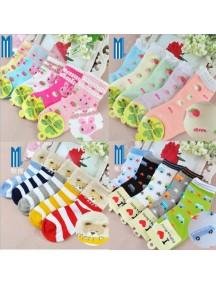 KA0048 - Kaus Kaki Anak Child Socks Cotton (Random Color)