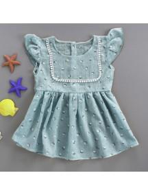 KA0053W - Baby Dress Bayi Perempuan Grey Flower