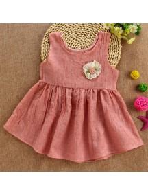 KA0055W - Baby Dress Bayi Perempuan Pink Flower