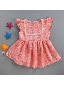 KA0056W - Baby Dress Bayi Perempuan Sweet Pink Flower