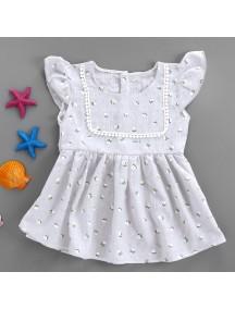 KA0058W - Baby Dress Bayi Perempuan White Daisy