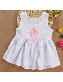 KA0059W - Baby Dress Bayi Perempuan White Bow