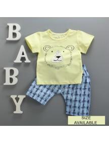 KA0062W - Baju Balita Baby Boy Yellow Lion Set (0-24 bln)