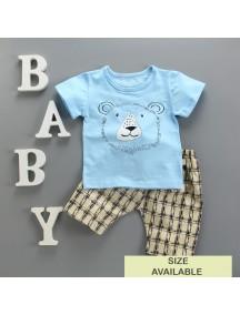 KA0065W - Baju Balita Baby Boy Blue Lion Set (0-24 bln)