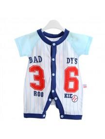 KA0066W - Baju Balita Onesie Blue Daddy Rookie's (0-24 bln)
