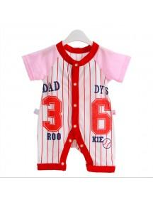 KA0067W - Baju Balita Onesie Red Daddy Rookie's (0-24 bln)
