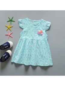 KA0069W - Baju Balita Baby Dress Summer Girl Blue (0-24 bln)