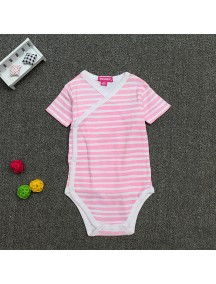 KA0077W - Baju Baby Onesie Jumpsuit Jumper Pink Stripe (0-6 bln)
