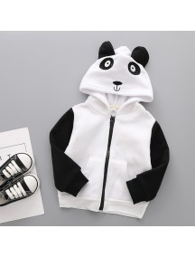 KA0079W - Children Jacket Winter/Fall Hooded Fleece Thick (Panda)