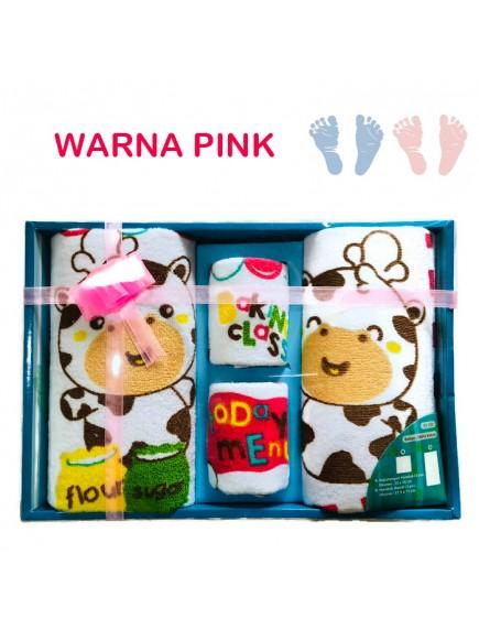 KB0001W - Handuk Set Gift Baby Newborn Hadiah 4pc
