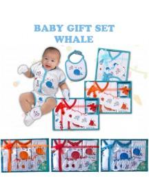 KB0005W - Baby Gift Newborn Set Hadiah Perlengkapan Bayi (Whale)