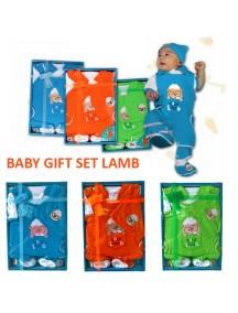 KB0008W - Baby Gift Newborn Jumpsuit Set Hadiah Perlengkapan Bayi (Lamb)