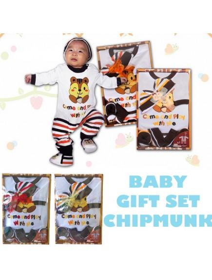 KB0013W - Baby Gift Newborn Set Hadiah Perlengkapan Bayi (Chipmunk)