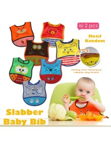 KB0022 - Slabber Baby Bib Food Celemek Set 2in1