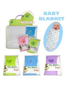 KB0028W - Baby Blanket Swaddle Selimut Dengan Topi Set