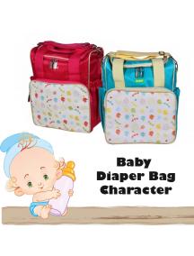 KB0031W - Travelling Diaper Bag Tas Kotak Perlengkapan Bayi Motif