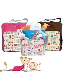 KB0032W - Travelling Diaper Bag Tas Bear Perlengkapan Bayi Motif