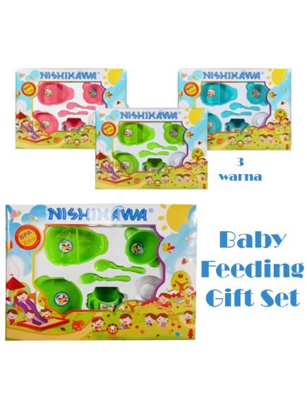 KB0040W - Baby Gift Feeding Set Makan Bayi 6in1 (Large)