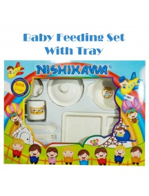 KB0042 - Baby Gift Feeding Set Makan Bayi White Tray (Large)