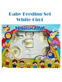 KB0043 - Baby Gift Feeding Set Makan Bayi White 6in1 (Large)