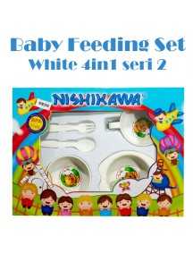 KB0046 - Baby Gift Feeding Set Makan Bayi White 4in1 (Seri 2)