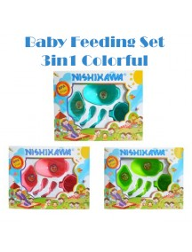 KB0047W - Baby Gift Feeding Set Makan Bayi 3in1 (Colorful)