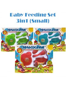 KB0049W - Baby Gift Feeding Set Makan Bayi 3in1 Seri 2 (Small)