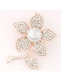 RBR1342 - Aksesoris Bross Flower Pearl Diamond