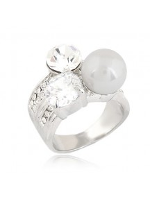 RCC2198 - Aksesoris Cincin Mutiara Diamond