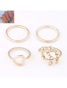 RCC2543 - Aksesoris Cincin Multi Ring Love