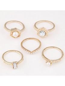 RCC2815 - Aksesoris Cincin Fashion Metal Ring Set