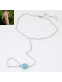 RGB1040 - Aksesoris Gelang Kaki Pine Blue Anklet