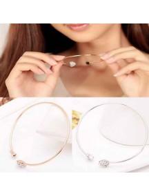 RGB1002W - Gelang Heart Diamond Bracelet