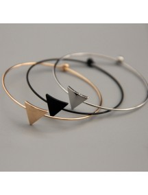 RGB1020W - Gelang Korean Triangular Layer Bracelet