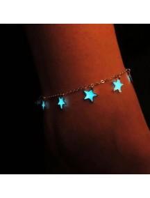 RGB1022W - Aksesoris Gelang Star Glow In The Dark Bracelet