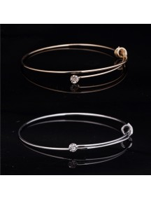RGB1023W - Aksesoris Gelang Knotted Wire Bracelet