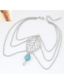 RGB1041 - Aksesoris Gelang Leaf Arm Bracelet