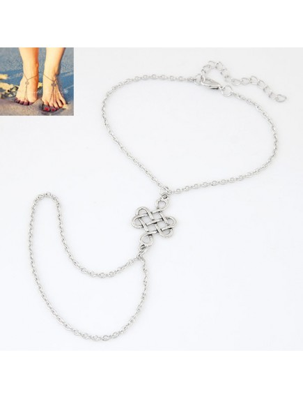 RGB1042 - Aksesoris Gelang Kaki Knot Ankle Bracelet