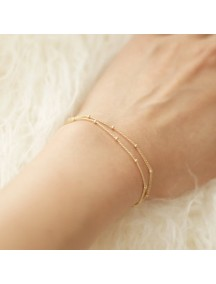 RGB1053 - Aksesoris Gelang Double Layer Beads Bracelet