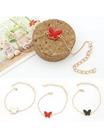 RGB1046W - Aksesoris Gelang Gold Butterfly Bracelet