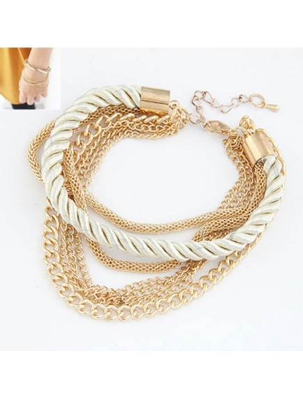 RGB1048 - Aksesoris Gelang Gold Chain Woven