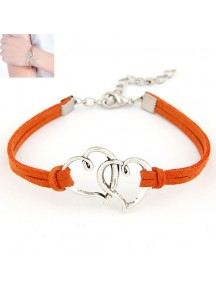 RGB3892 - Aksesoris Gelang Double Heart