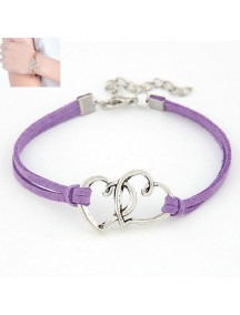 RGB3893 - Aksesoris Gelang Double Heart