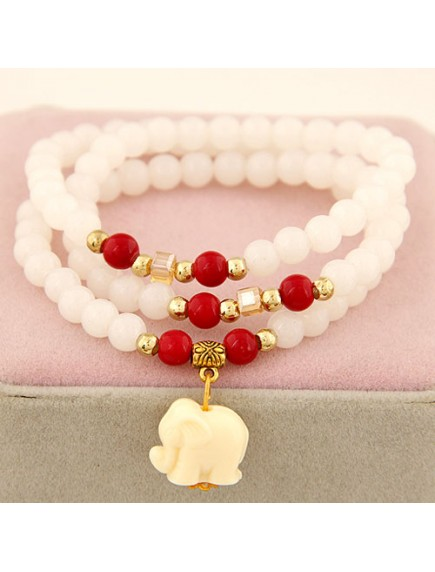 GB3932 - Aksesoris Gelang Beads  Elephant Pendant